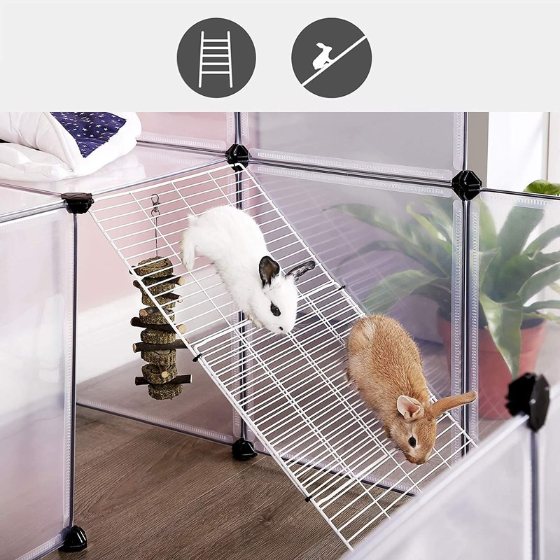 enclos avec etage pour lapin