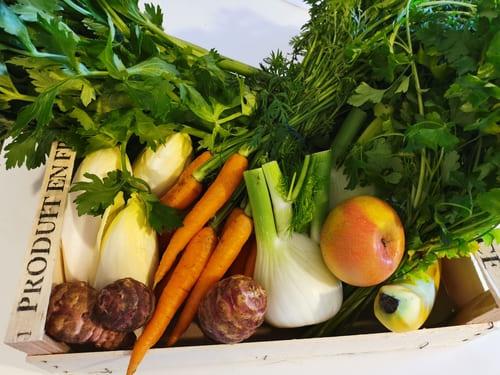 Panier légumes lapin